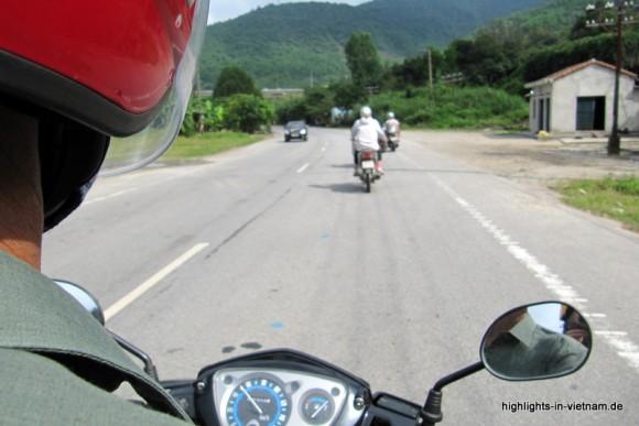 auf dem Motorrad in Vietenam