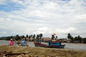 Boot auf der Insel